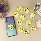 Cute Gifts Portable Collapsible Emoji Soft PVC Phone Holder Socket