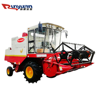 Price of 4LZ-2 2058 rice harvester/rice combine harvester for mid-farm field