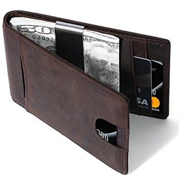 b7837969c932 mens wallet RFID Blocking blank Money clip with Slim Front Pocket and Clip  wallet money clip