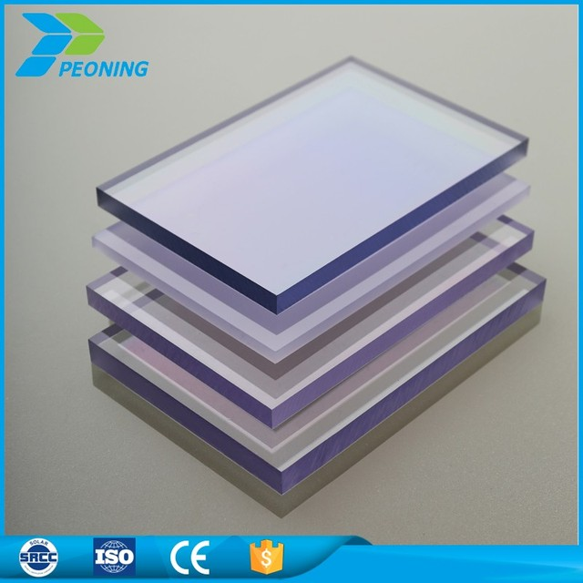 high impact resistance 10mm flat colored windows glass and skylight polycarbonate solid sheet - Colored Glass Sheets