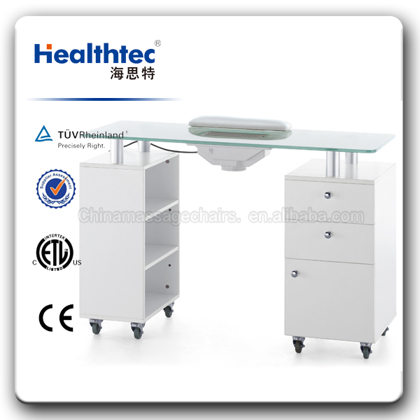 White Blue Nail Manicure Table