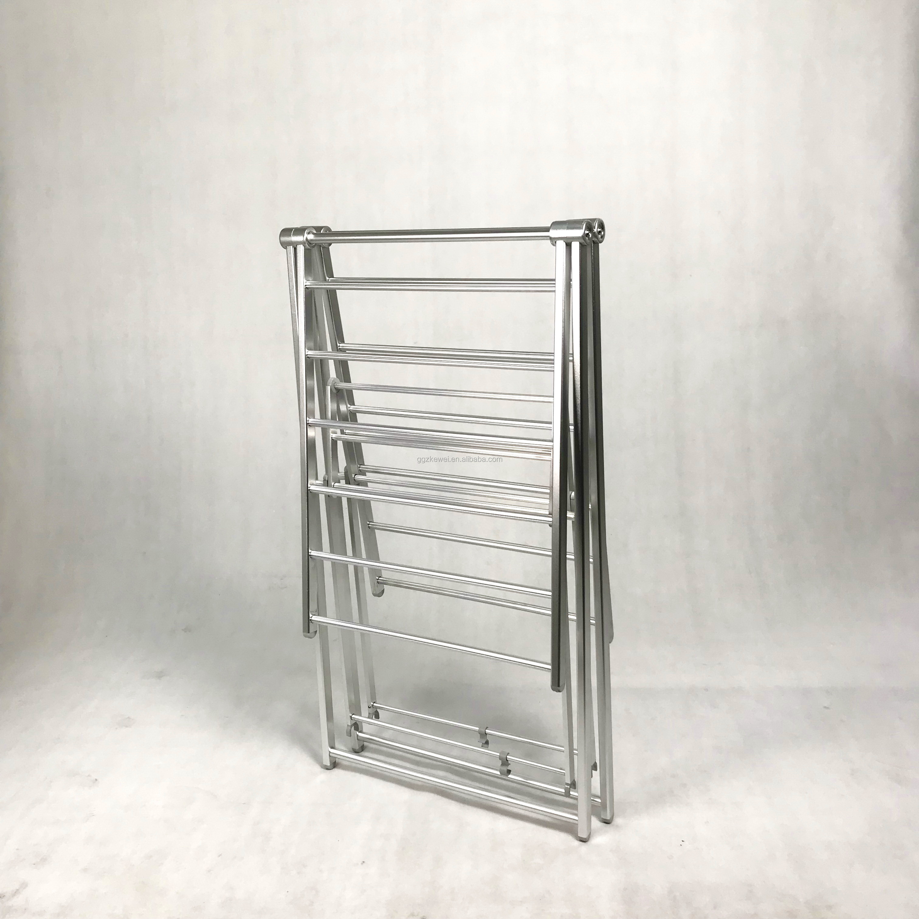 Aluminum Folding Clothes drying racks wholesale from manufacture , silver color with thread bars