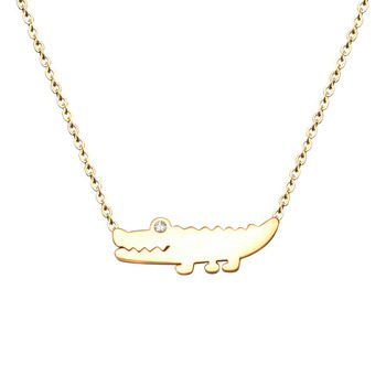 Gold Alligator Necklaces Accessories Women Stainless Steel Crocodile Collar Necklace Fashion Jewelry 2018