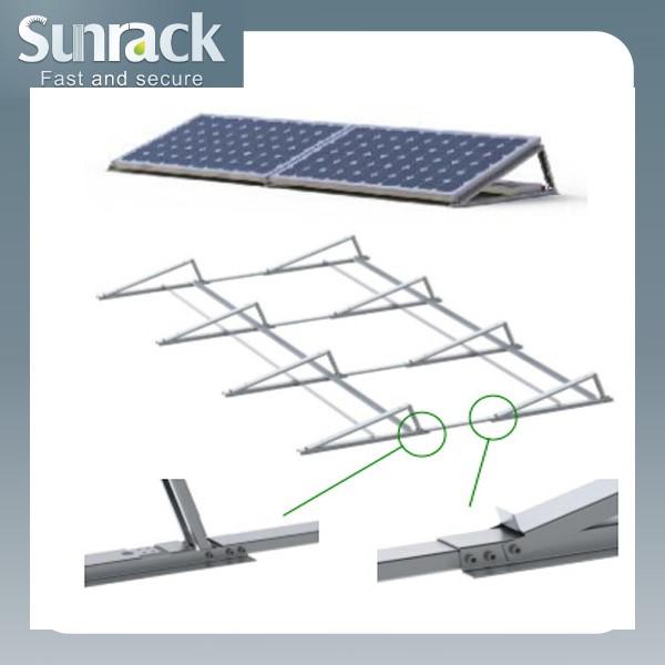 Fixed Ballast Flat Roof Solar Pv Panel Mounting Mounts