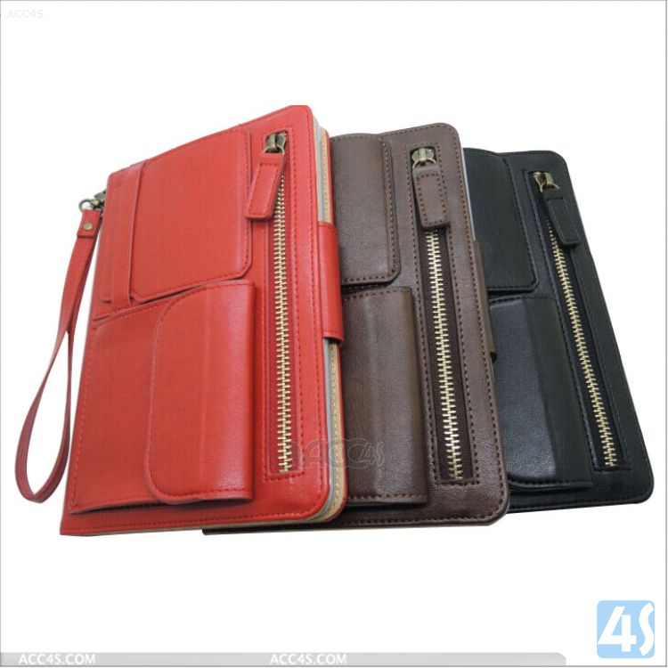 Best selling products in America Multifunction Leather Wallet Case for iPad Mini/iPad Mini 2 P-APPIPDMPUCA001