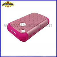 Bling Combo Hybrid Silicone Case for Blackberry Curve 8520,High Quality,Laudtec