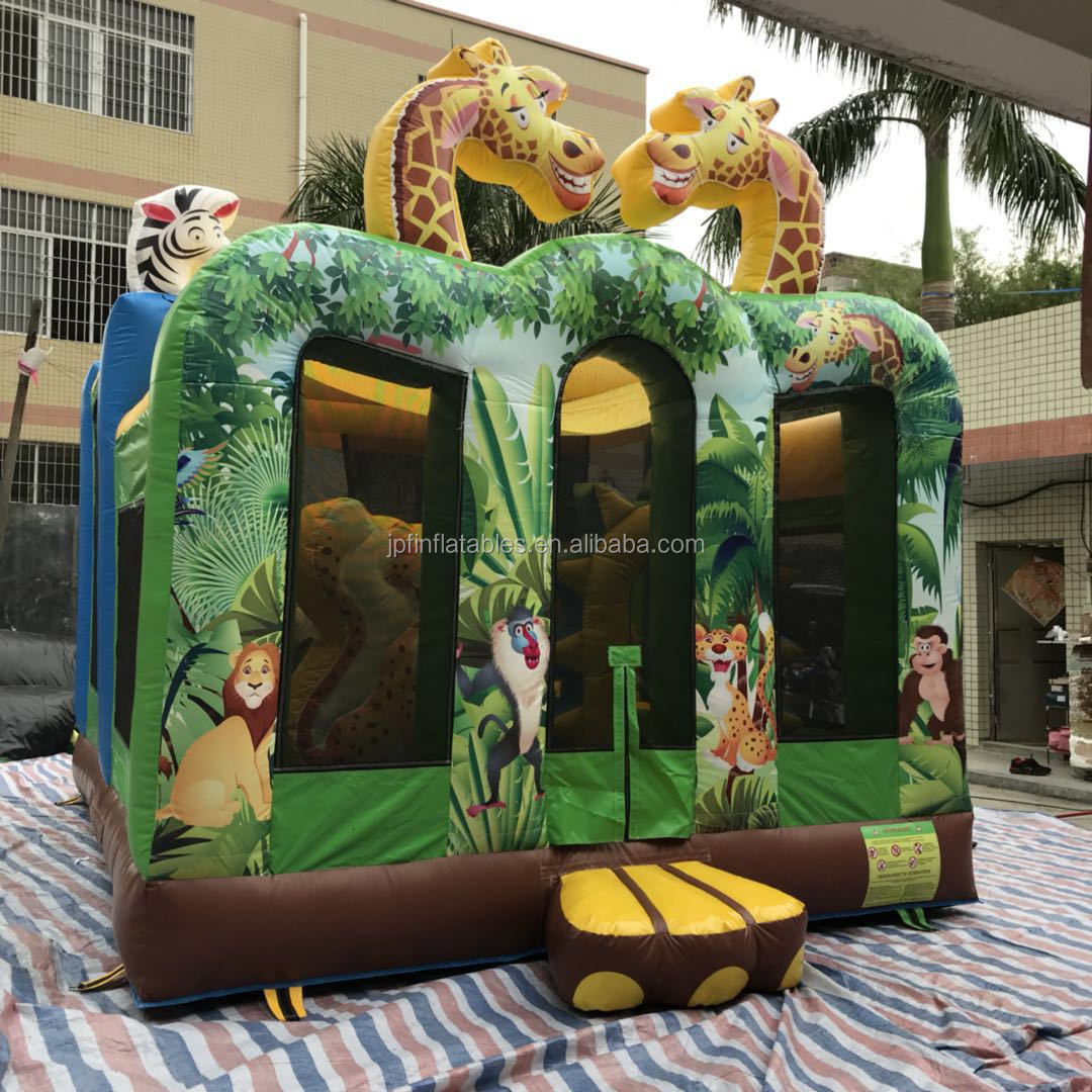 2019 jungle animals used inflatable party jumpers for sale