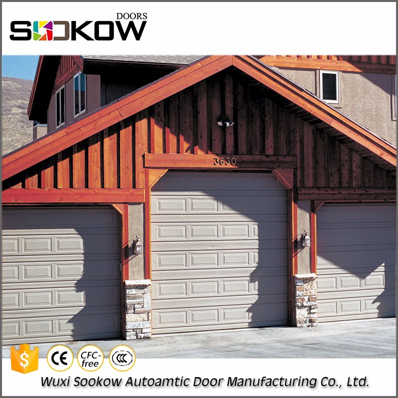 Decorative China newest used China supplier aluminum automatic double panel sectional garage door