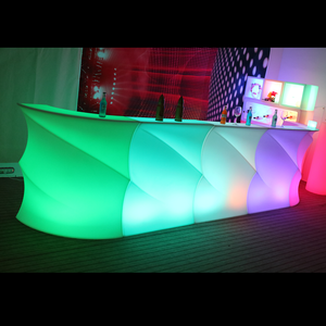 modern weaved nightclub bar light up illuminated bar portable 16 colors changing led plastic drink bar counter with remote