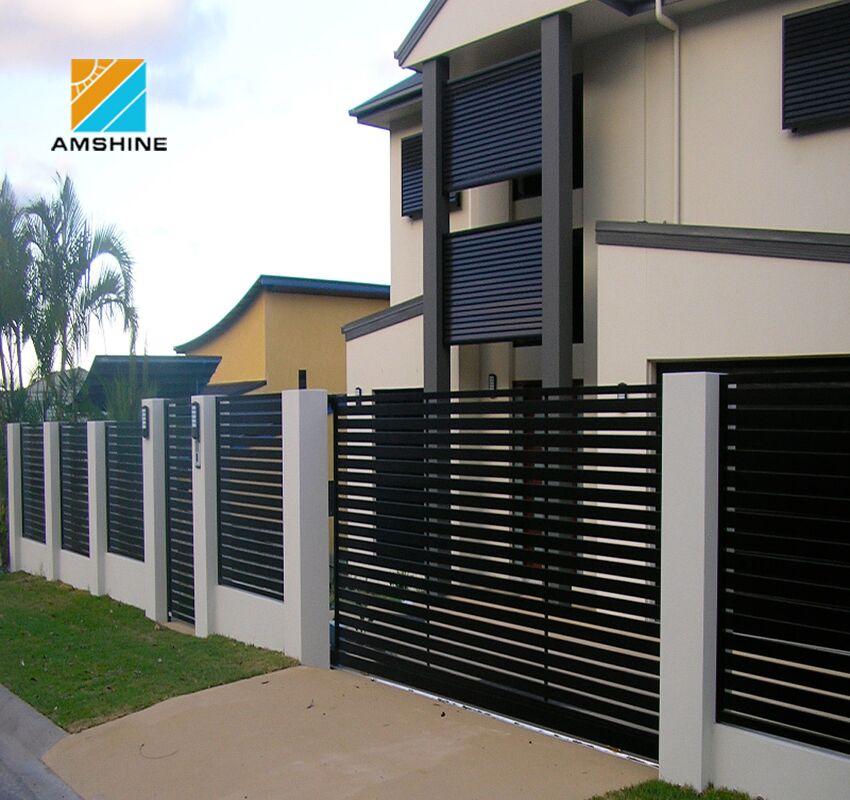 Eco Friendly House Main Aluminum Automatic Motorized Sliding Gate