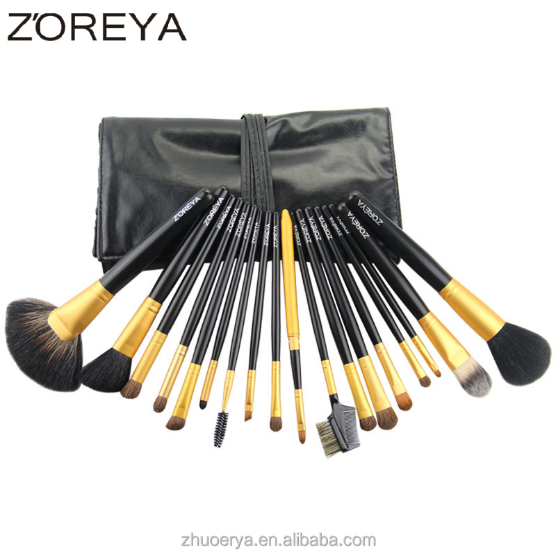 18 pcs zoreya hot high quality in stock makeup brush set