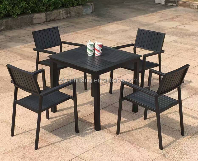 Outdoor starbucks dining sets chair and table polywood furniture