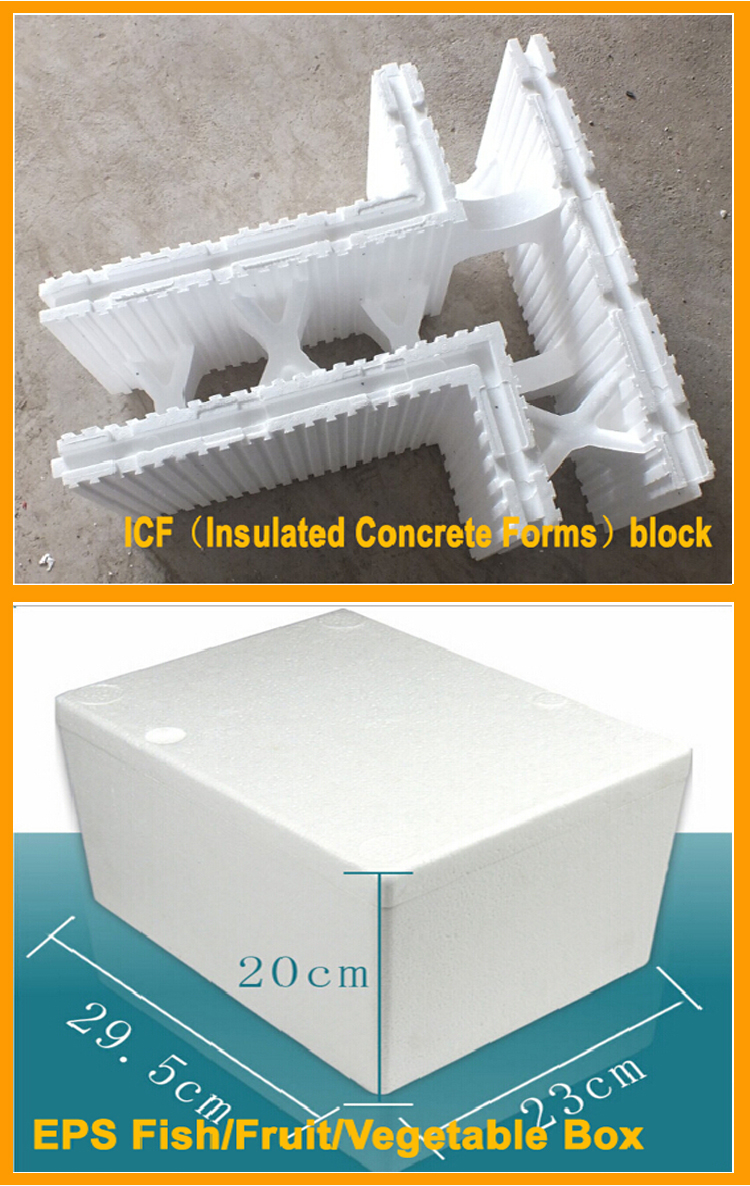Eps icf molding machine insulated concrete forms lost foam for Insulated concrete foam