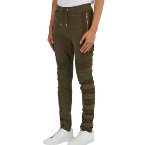 OEM custom new fashion Military and Biker style cotton track pants with straps and mesh panels trousers men sweatpants
