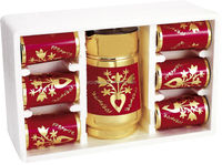 8 Oz Golden Glass Cups,Glass Tumbler,6pcs Set Of Ready Goods