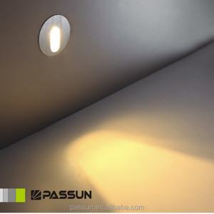 super mini square / round stair step recessed wall lamp 1w led wall light