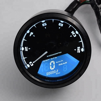 Best Use And Sell electronic motorcycle speedometer Meter Digital Odometer Speedometer Tachometer