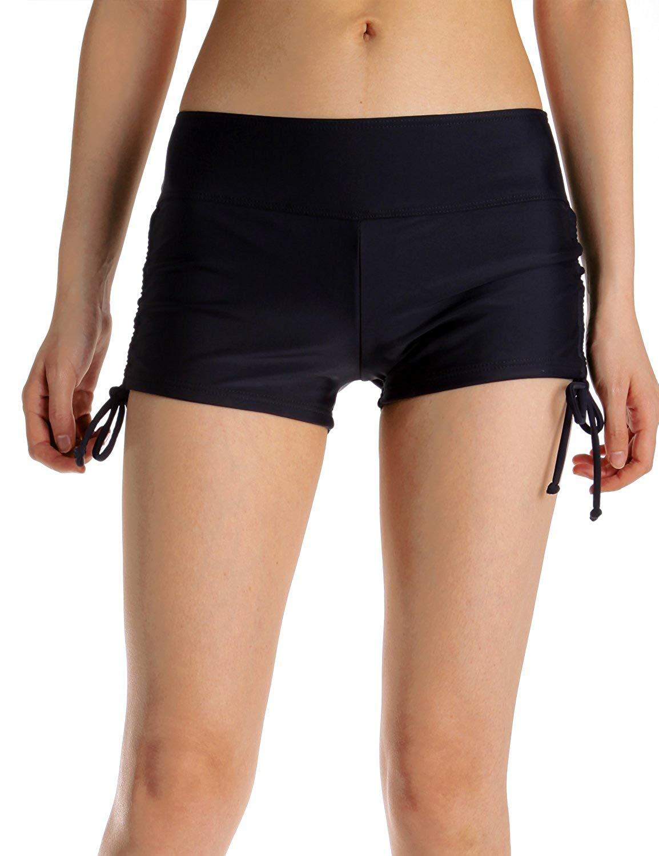 07382569296a Get Quotations · DDTC-us Women's Swim Shorts Swim Bottom Shorts Beach Board Shorts  Bikini Sport Shorts Solid
