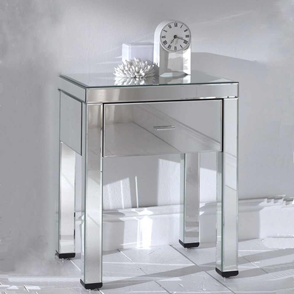 Clear Acrylic Mirrored Furniture Dressing Table, Lucite Console Table  Perspex Vanity Table
