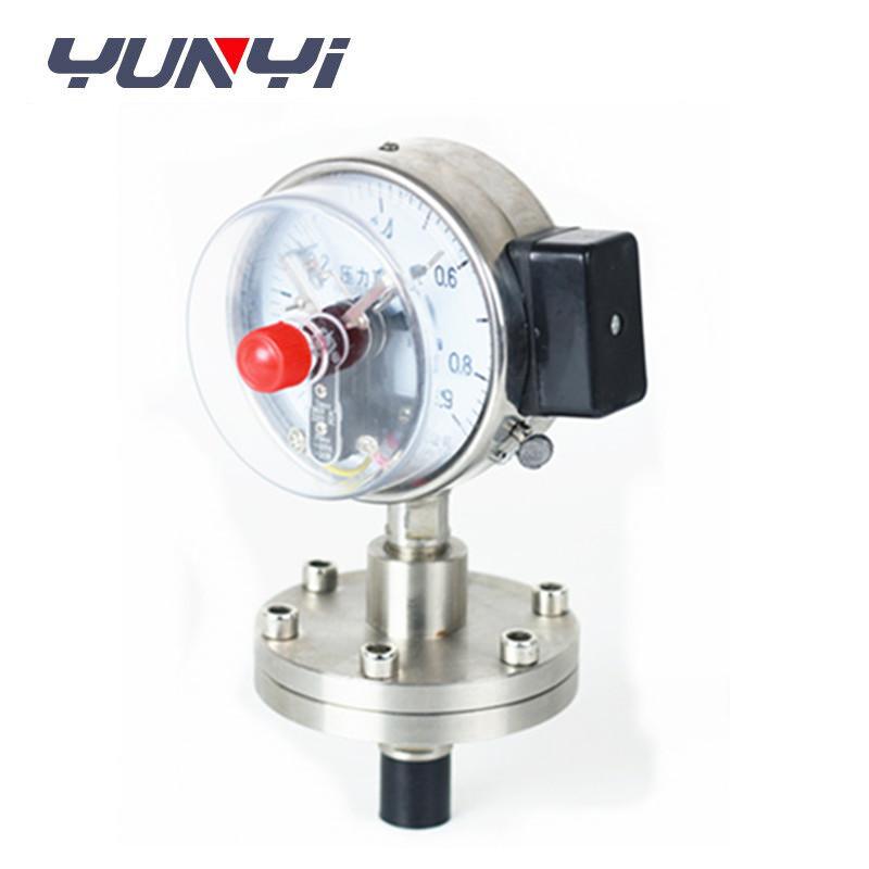 Electrical contact diaphragm pressure gauge