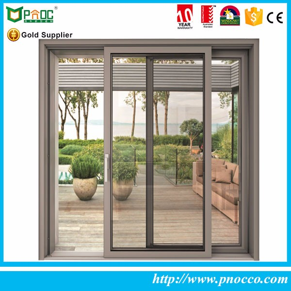 Blind and louver sliding window shades for sale thermal break price