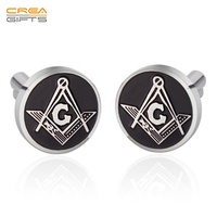 High quality Custom Logo Cufflinks Hard Enamel Cufflinks