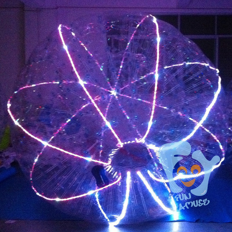 inflatable LED human gyroscope space ball for sale