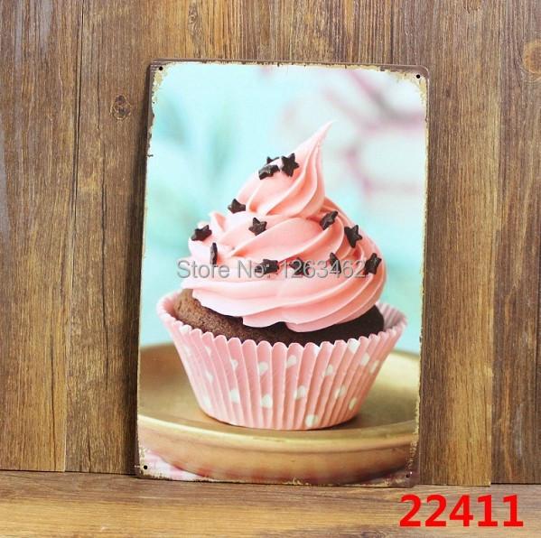 30*20 cm cake Vintage Metal Painting tin sign Bar pub home Wall Decor Retro Mural Poster Home Decor Craft