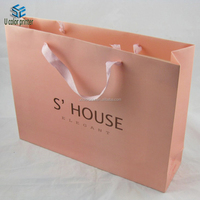 U color Customized luxury paper shopping bag