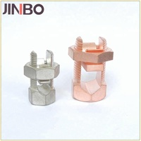 #8-#2 and #10-#1 AWG Mechanical Grounding Connector Bronze Split Bolt Clamp