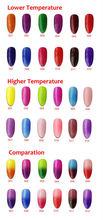 6pcs Color 1000 Soak Off UV LED Temperature Thermo Color Changing Nail Art Gel Polish 10ml