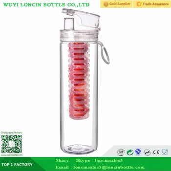 27OZ Acrylic Fruit Infuser Bottle With Tea Infuser,800ML Tea Infuser Water Bottle For Fruit Drink,Heath Drink Bottle Tea Fruit
