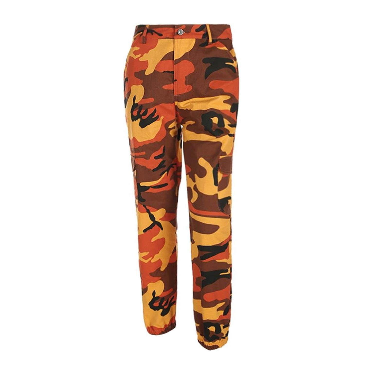 9b77bfd2f0d Get Quotations · Wqueen New Camouflage Printed Jeans Harem Pants Women  Sports Camo Cargo Pants Outdoor Casual Camouflage Trousers