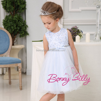 8a59dcbaa New style girl party wear western dress white plain kids beautiful model dresses  kids party wear