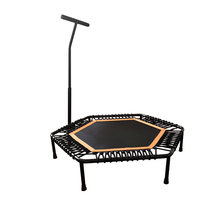 <span class=keywords><strong>Volwassenen</strong></span> indoor fitness hexagon mini trampoline met leuning