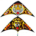 free shipping high quality children lion tiger kite10pcs lot with handle line outdoor flying toys 3dkite