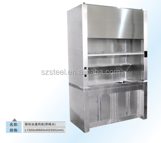 chemical stainless steel labratory furniture lab equipment chemistry laboratory fume hood