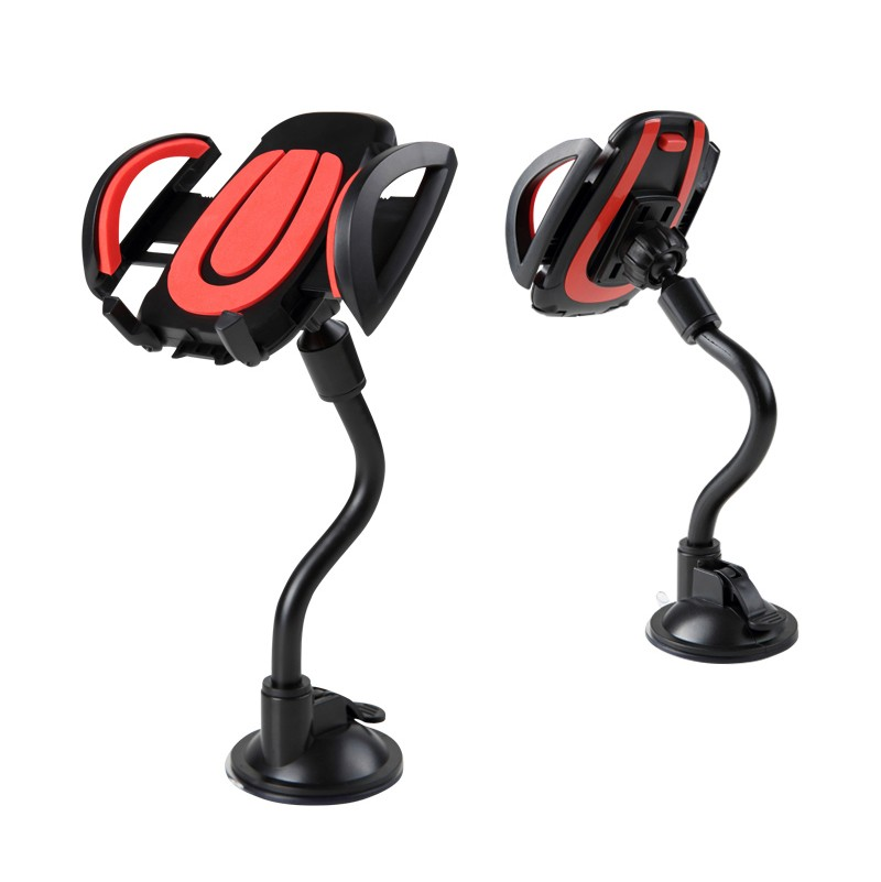 Car Mobile Holder Aluminium Alloy Unversal In Car Mobile Phone Holder With Long Leg Easy One Touch Holder