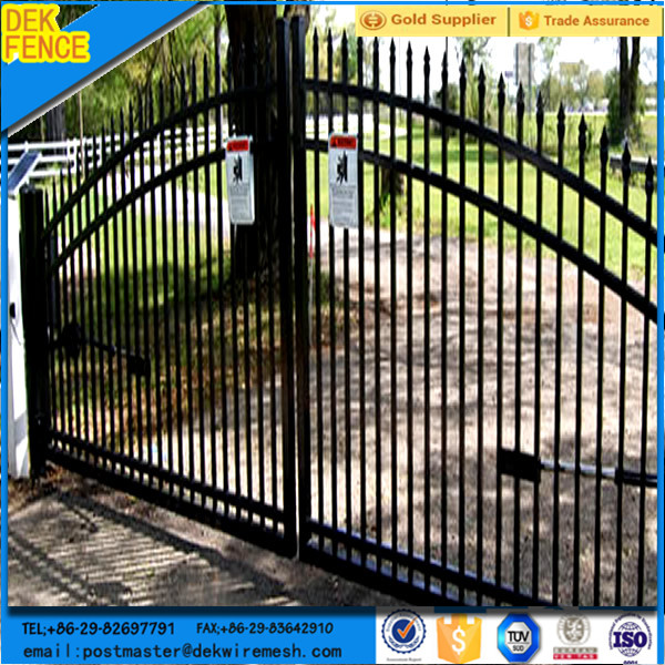Used security steel metal horse fence design of main gate