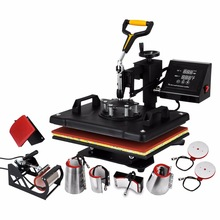 "8 in 1 Digital Heat Press Machine Multifunctional Transfer Sublimation for T-Shirt Mug Cup Hat Cap 15""X12"" (38X30cm) Heat Platen"