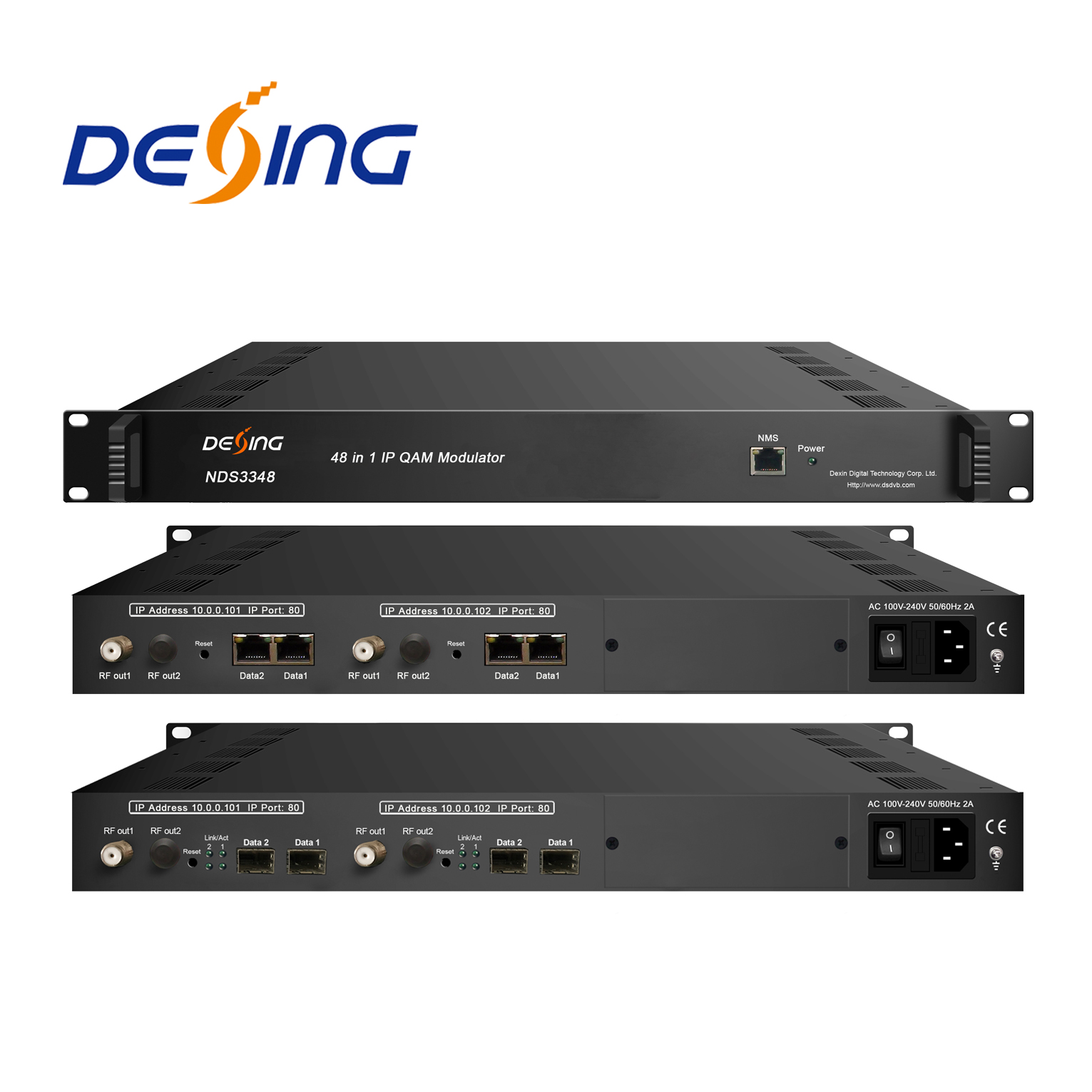 Dexin NDS3316 IP scramble modulator mit Multiplexing und Scrambling