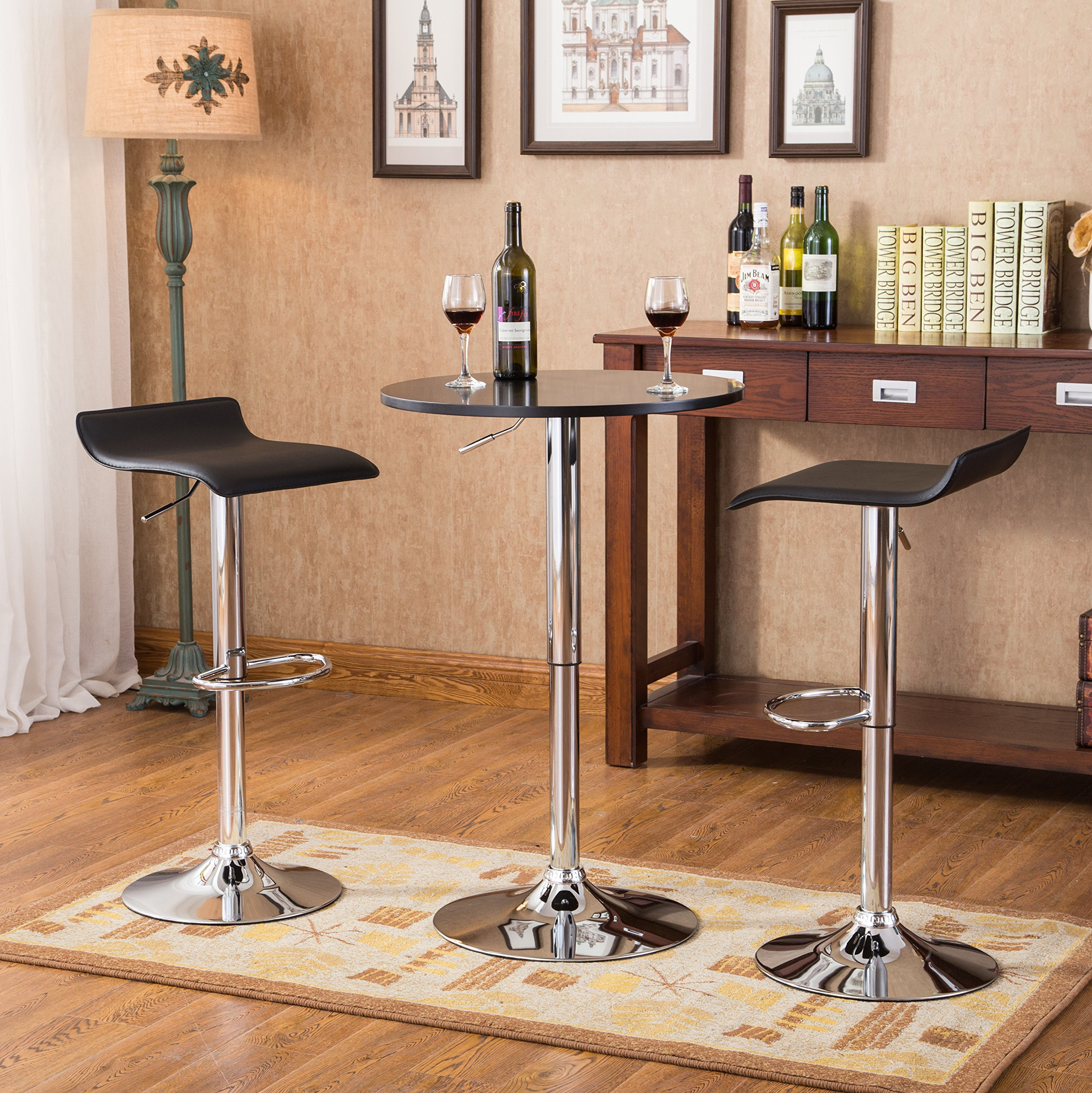 Incredible Buy Roundhill Solid Wood Swivel Bar Stools With Back 24 Theyellowbook Wood Chair Design Ideas Theyellowbookinfo