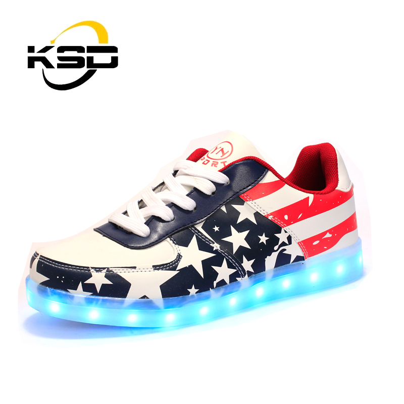 New Style fashion cool light up led shoes for <strong>men</strong> with Flashing casual shoes