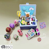 D&D home & traveling sewing accessories notions box hand embroidery sewing box