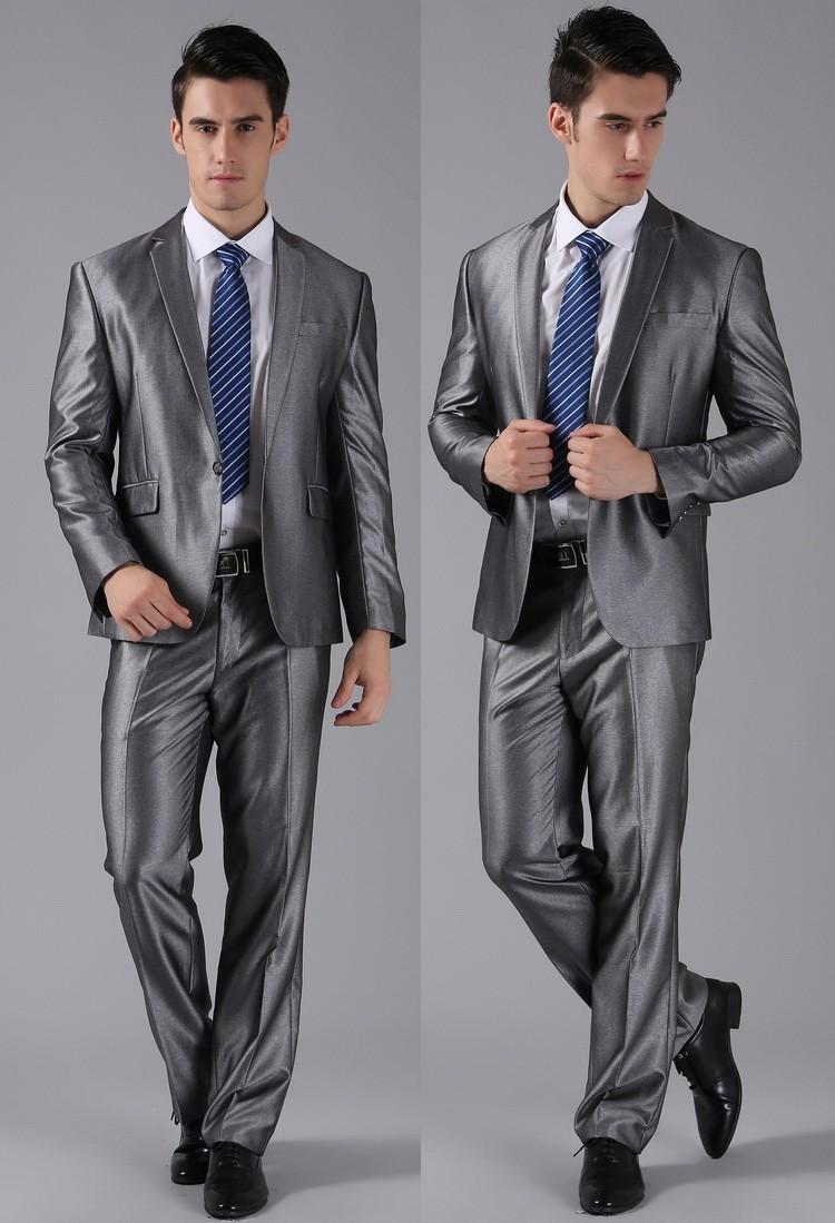 (Kurtki + Spodnie) 2016 Nowych Mężczyzna Garnitury Slim Fit Niestandardowe Garnitury Smokingi Marka Moda Bridegroon Biznes Suknia Ślubna Blazer H0285 24
