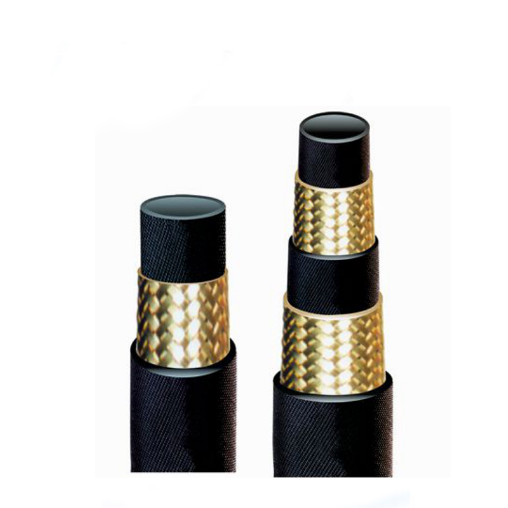 Lowest price Braided steel wire reinforced flexible hoses pipe hydraulic rubber hose