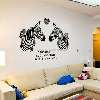 Couple Of Zebra Eternity Meaning Wall Sticker Diy Decorative Home