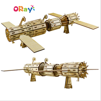 Oray creative gift toy for kids assemble with 3d wooden puzzle
