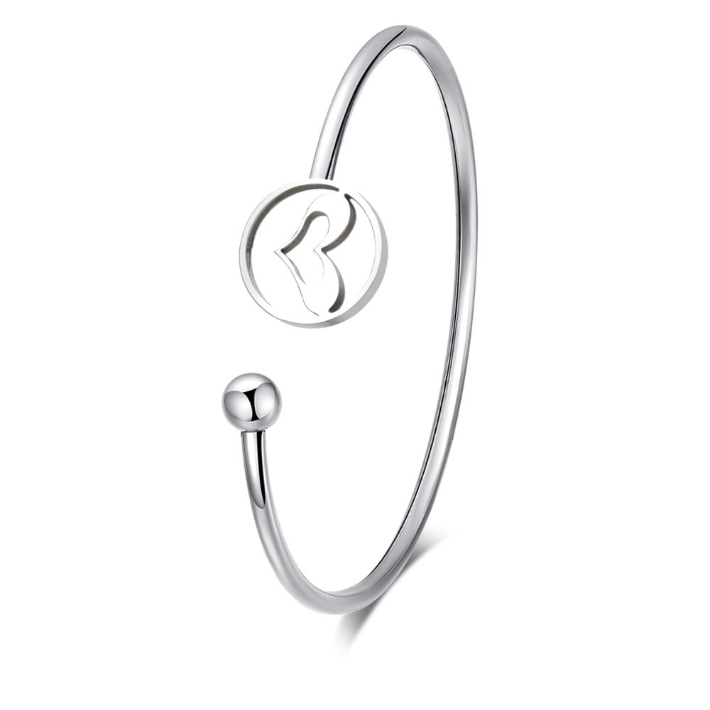 Fashion hollow heart shape stainless steel bracelets for couple gifts