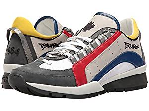Get Quotations · DSQUARED2 551 Sneaker Red Blue Men s Lace up casual Shoes 0a3b2d5c5db